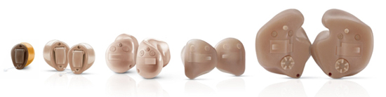 Insio Primax Signia Siemens Custom Hearing Aids, different sizes