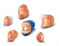 Phonak Virto V in 6 shell sizes.