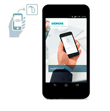 Signia Siemens TouchControl App on a Smart Phone